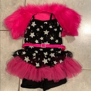 Girls dance practice costume.